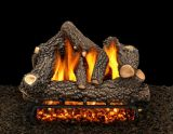 "24"" Cheyanne Glow Logs with Double Log Switch Pilot kit Burner Tube - NG"