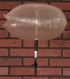 "Chimney Balloon Fireplace Damper 9""X9"" Draft Stopper Pillow Plug"