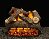 "18"" Cordoba Logs with Single Burner Pilot kit and V. Flame Remote Ready LP"