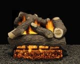 """18"""" Cordoba Logs with Double Burner Pilot kit and V. Flame Remote Ready LP"""