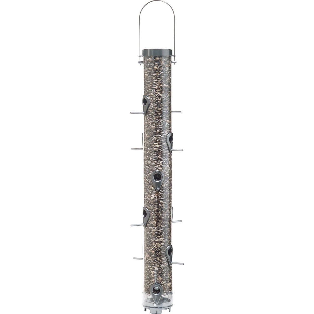 Classic 4 Lbs Capacity 12 Port Executive Wild Bird Feeder in Pewter