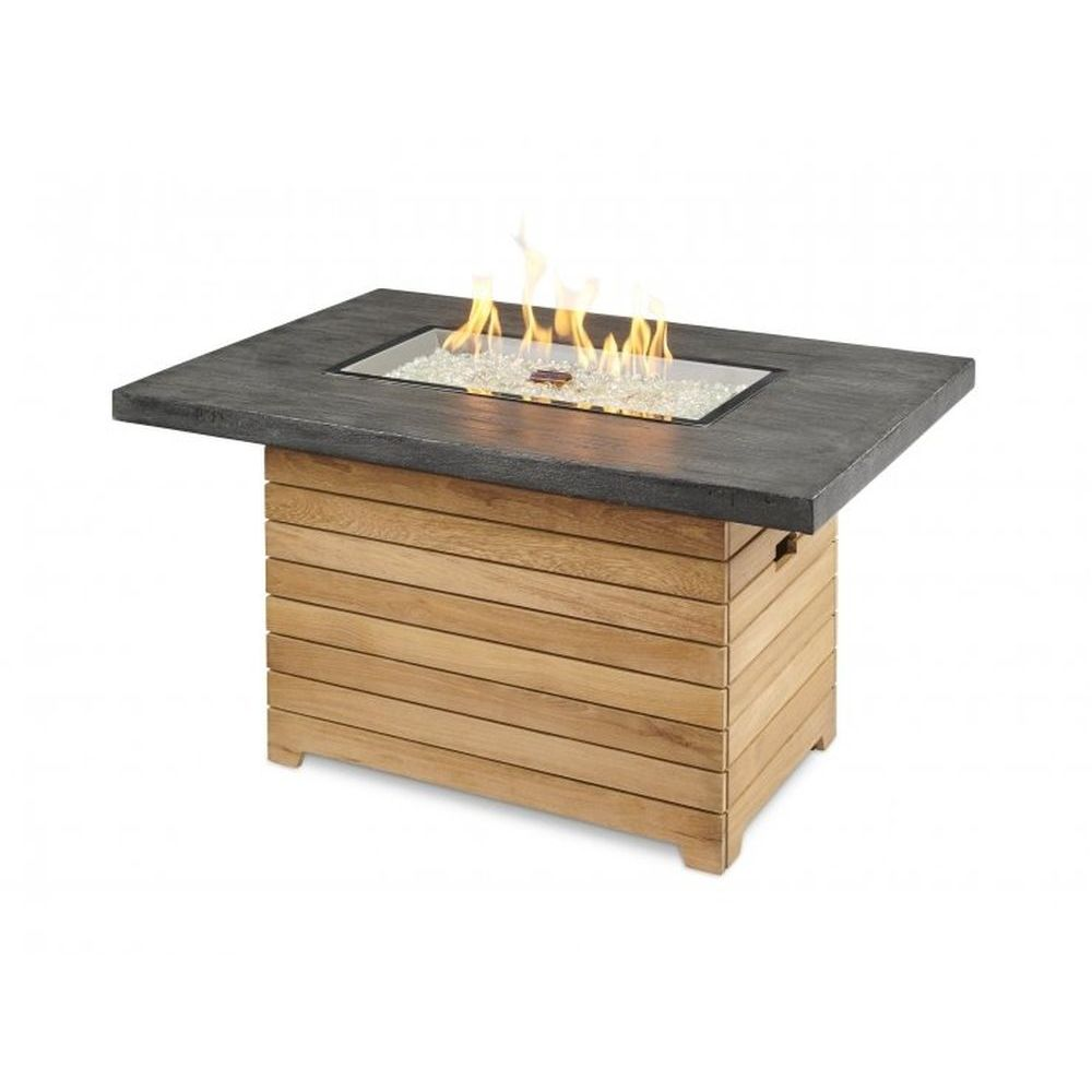Outdoor GreatRoom Darien Rectangular Fire Pit Table - Everblend Top