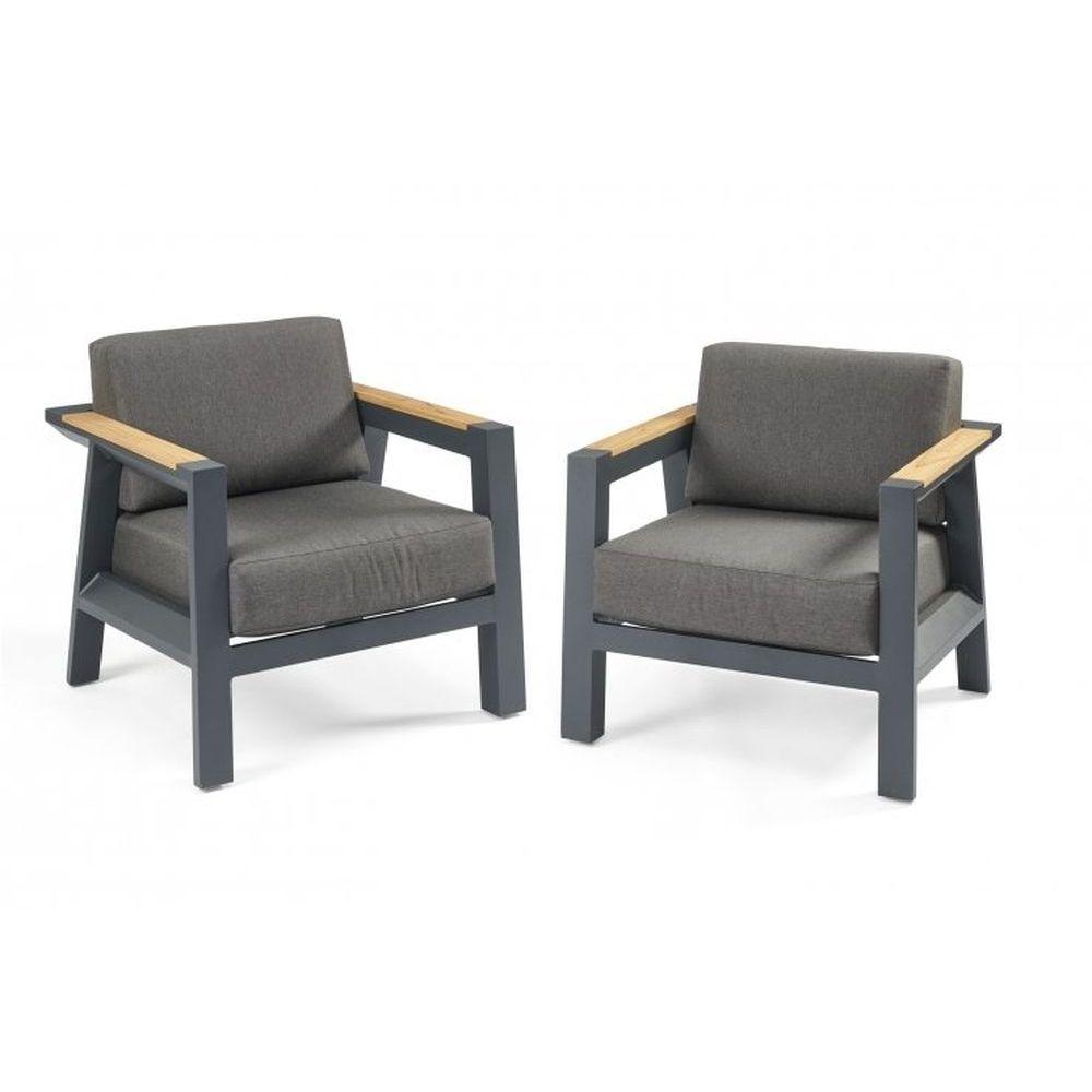 Outdoor GreatRoom Darien Teak Chat Chairs