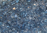 Crushed Decorative Glass - Blue Clear