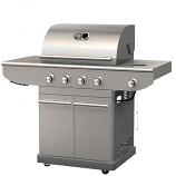 BBQTEK 4 Burner Gas Grill with Side Burner - Propane Gas