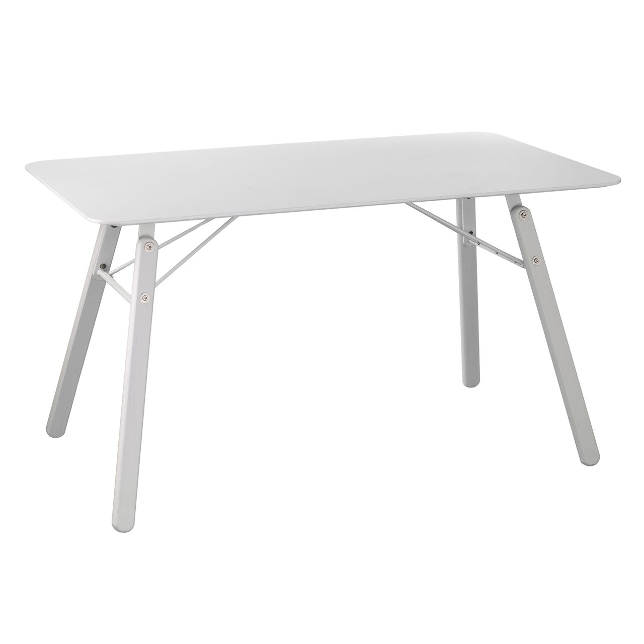 Holly & Martin Dinniman Midcentury Modern Dining Table in White