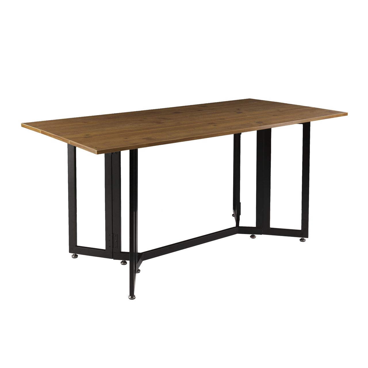 Holly & Martin Driness Drop Leaf Table in Weathered Oak / Black