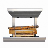 Earth's Flame Hybrid Clean Burn, Wood Fireplace System with NG Lighter