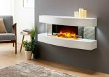 Evolution Fires Miami Curve Fire Pit Electric Fireplace - Gloss White
