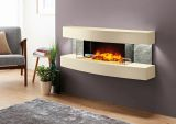 Evolution Fires EFMCM Miami Curve Fire Pit Electric Fireplace - Marfil
