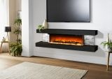 Evolution Fires 72'' Vegas Electric Fireplace - White & Grey Stone Panel