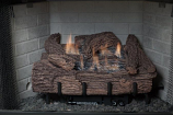 "Palmetto Oak 18"" 5-Piece Refractory Log Set & LP Manual Control Burner"
