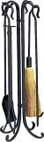 5 Pc. Black Heavy Weight Rustic Fireset