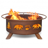 Patina F107 Bear and Trees Fire Pit