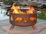 Bear & Trees Fire Pit
