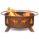 Patina F108 Moose and Trees Fire Pit