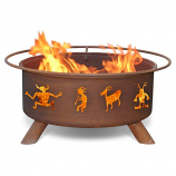Patina F112 Kokopelli Fire Pit