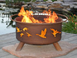Wild Ducks Fire Pit F114 By Patina Products