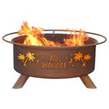 Patina F121 No Worries Wood/Charcoal Fire Pit in Natural Rust