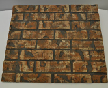 HPC Dark Tan Decorative Firebrick Panel