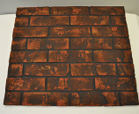 HPC Red Decorative Firebrick Panel