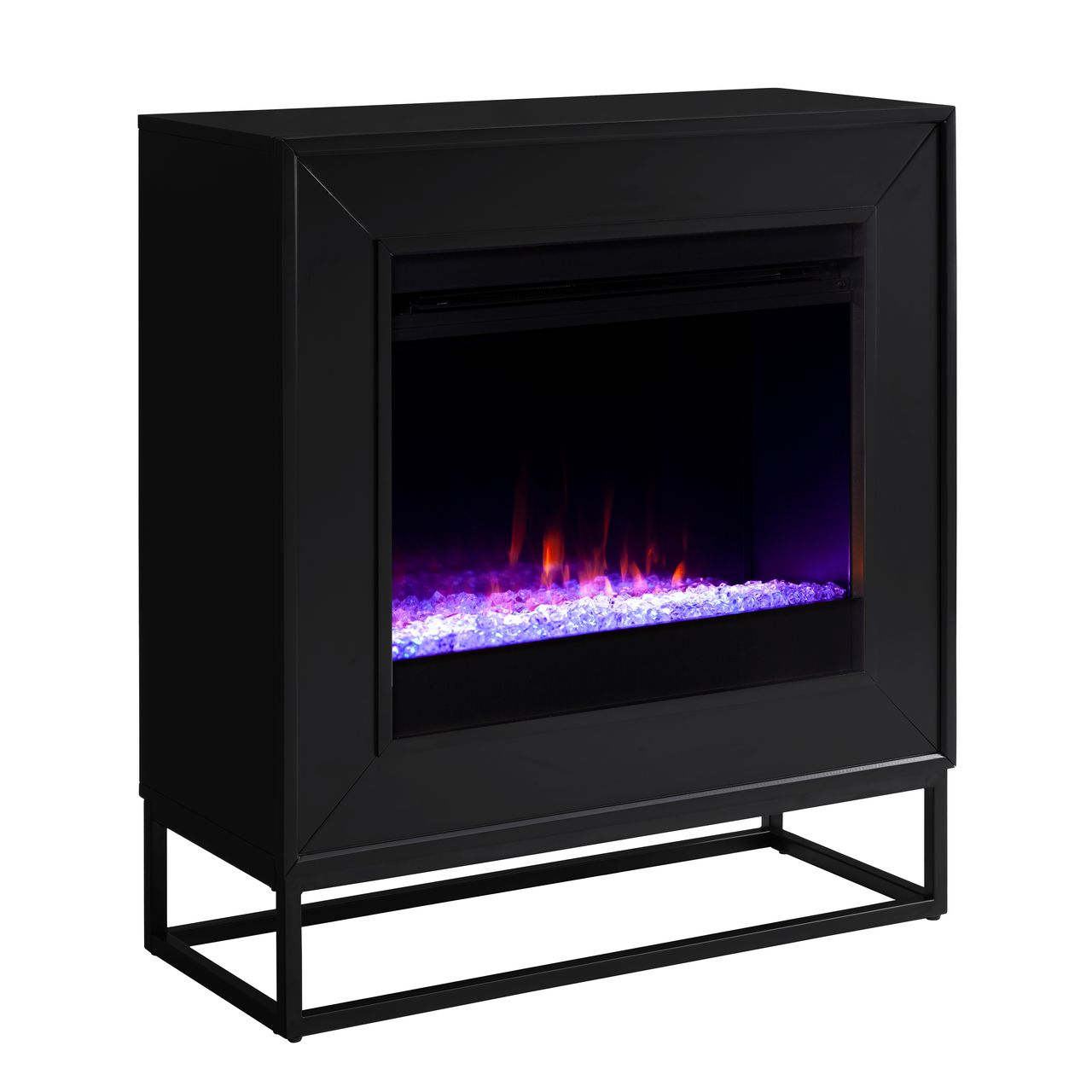 Holly & Martin Frescan Color Changing Electric Fireplace in Black