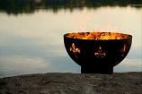 Fleur de Lis Fire Pit By Firepit Art