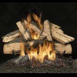 """24"""" Elegant Charred Split Oak Logs w/Safety Pilot Burner - LP"""