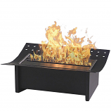 Matte Black Insert Ethanol Fuel Fireplace