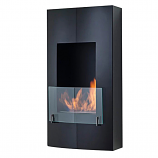 Hollywood Wall Mounted Or Built In Fireplace -Matte Black