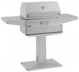 Legacy 22SC01CP6 Patio Post Charcoal Grill with Smoker Oven/Hood