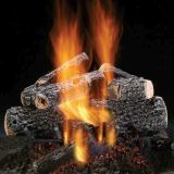 "Magnificent Charred Oak 30"" Gas Logs with Safety Pilot - NG"