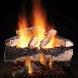 "Magnificent Split Oak 30"" Gas Logs with Safety Pilot - NG"