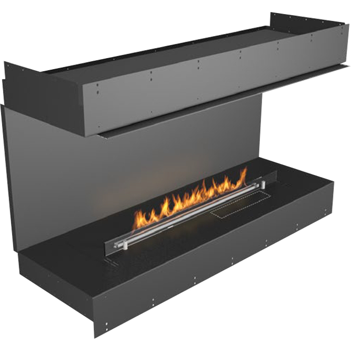 Planika Forma 48 in indoor Bay Fireplace With 39 in FLA Burner