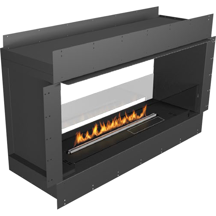 Planika Forma 48 in indoor Double Sided Fireplace With 39 in FLA Burner