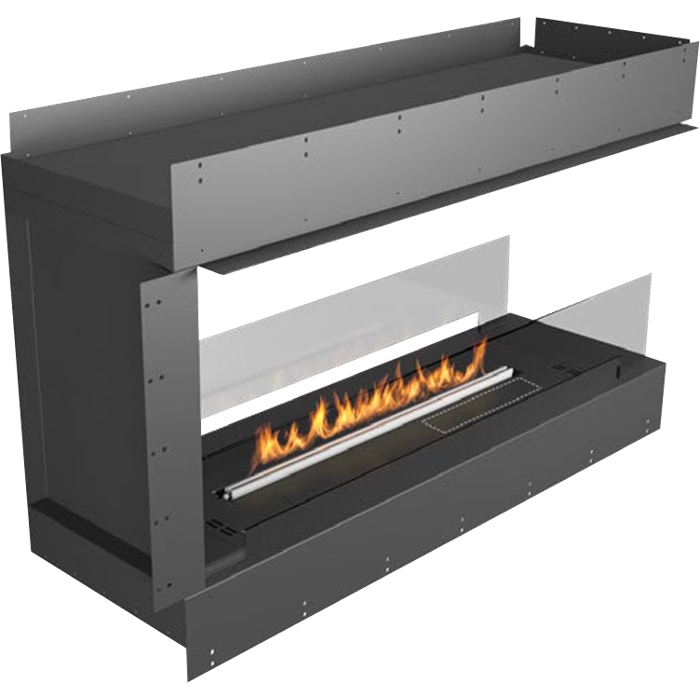 Planika Forma 48 in Pen insula Fireplace With 39 in FLA Burner