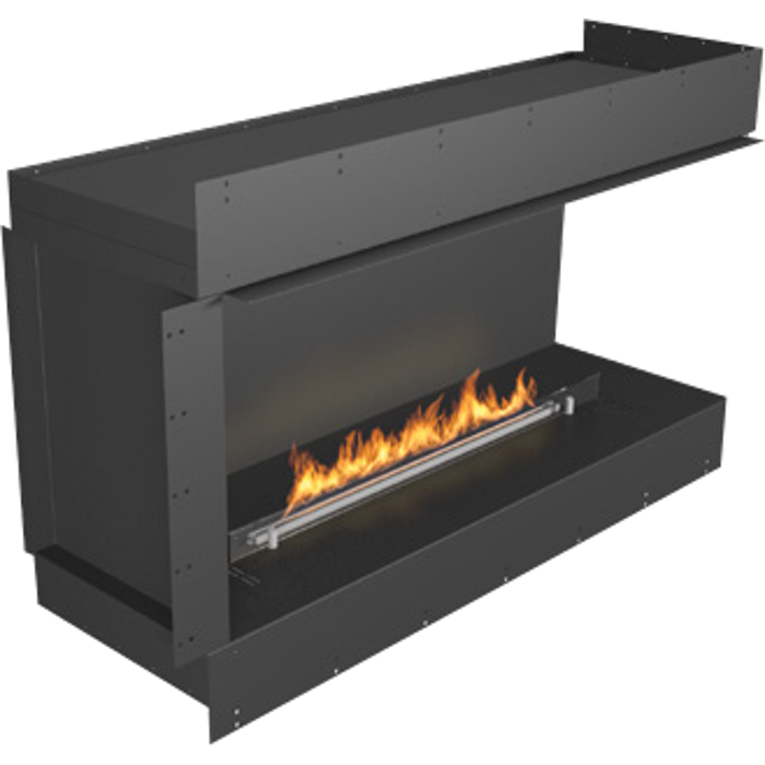 Planika Forma 48 in indoor Right Corner Fireplace With 39 in FLA Burner