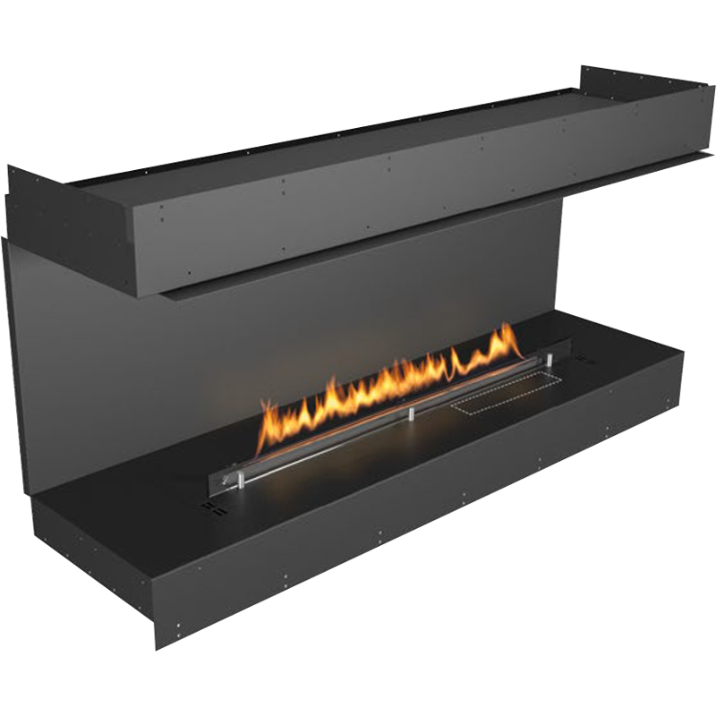 Planika Forma 60 in indoor Bay Fireplace With 47 in FLA Burner