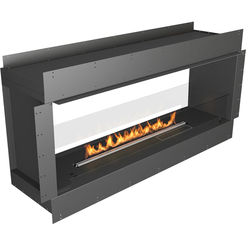 Planika Forma 60 in indoor Double Sided Fireplace With 47 in FLA Burner