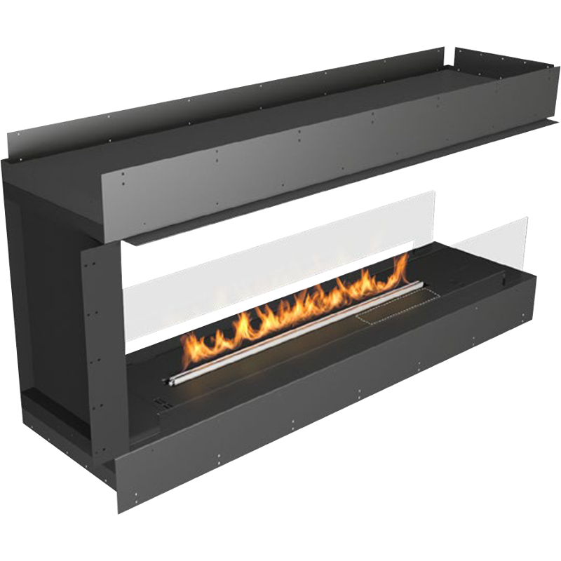 Planika Forma 60 in Pen insula Fireplace With 47 in FLA Burner
