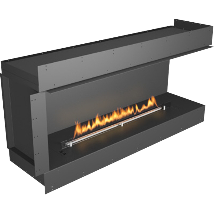 Planika Forma 60 in indoor Right Corner Fireplace With 47 in FLA Burner