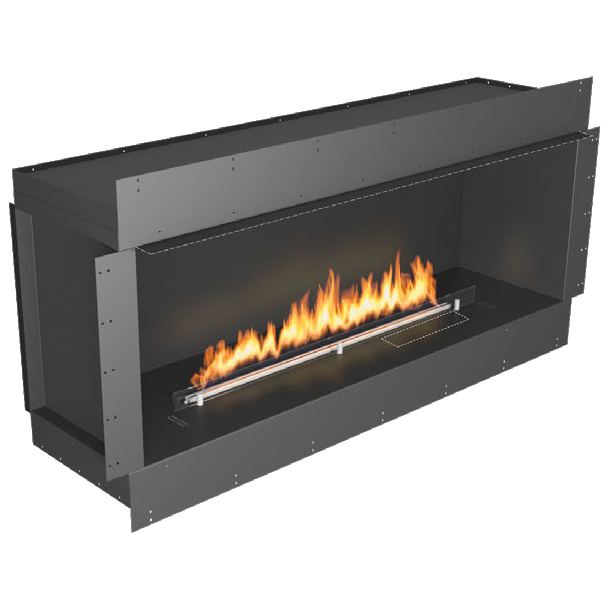 Planika Forma 60 in indoor S ingle Sided Fireplace With 47 in FLA Burner