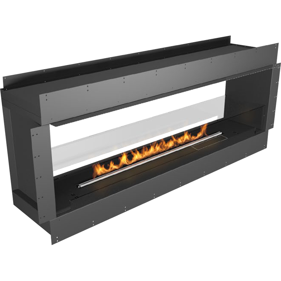 Planika Forma 72 in indoor Double Sided Fireplace With 59 in FLA Burner