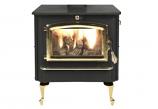 NC Wood Burning Stove w/ Gold Door and Reg. Queen Anne Black Legs