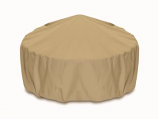 "Two Dogs 36"" Fire Pit Cover - Khaki"