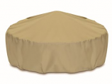 "Two Dogs 60"" Fire Pit Cover - Khaki"