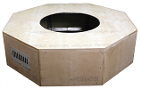 HPC 45 Inch Octagon Unfinished Firepit Enclosure Only