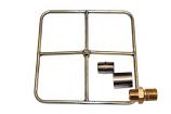 "12"" Liquid Propane Square Burner, Match Lit Ignition"