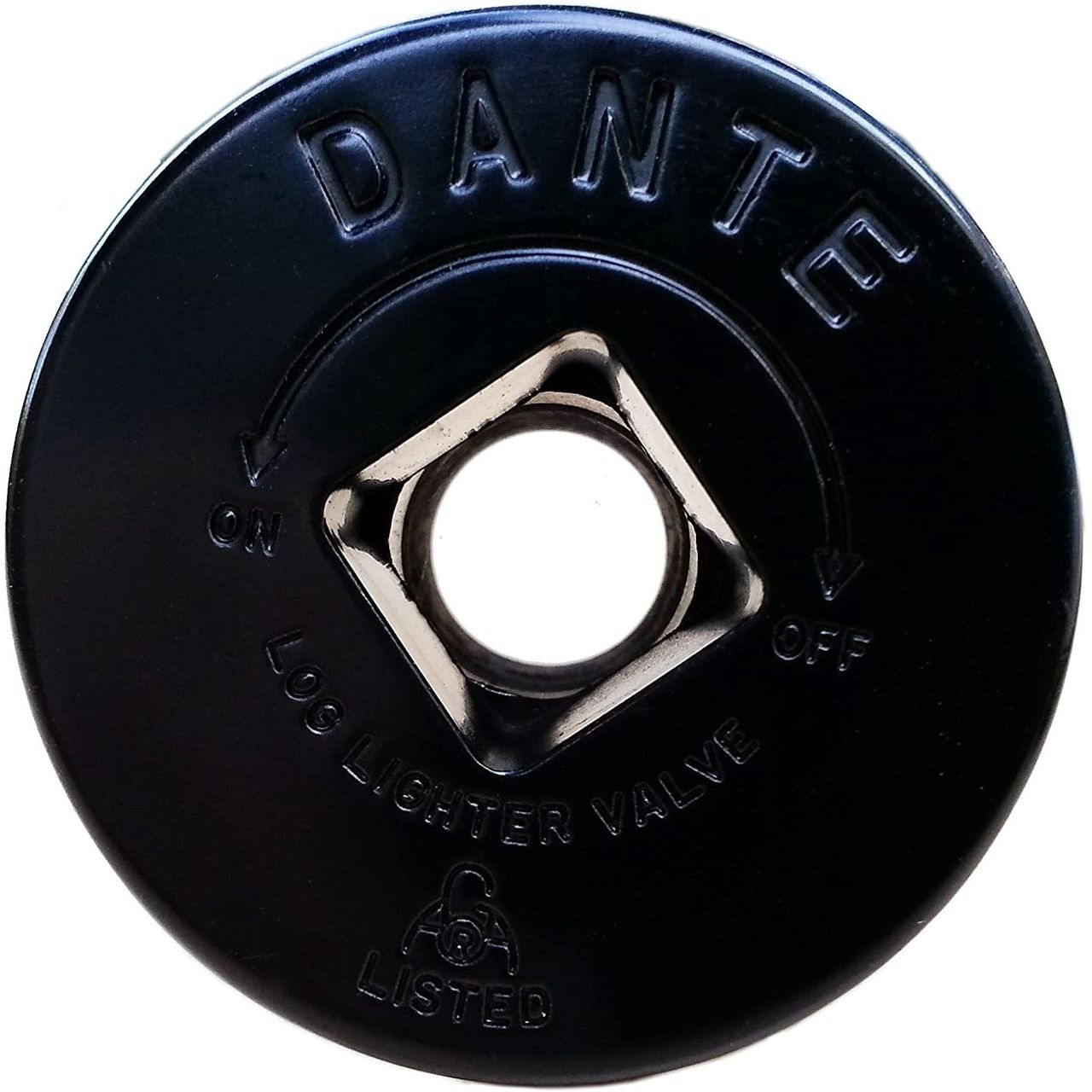 Dante Gas Valve Floor Plate - Flat Black