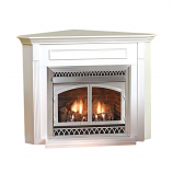 Empire EMBC3SW Standard Corner Cabinet Mantel with Base - White